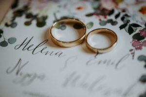 Wedding photography of alliances